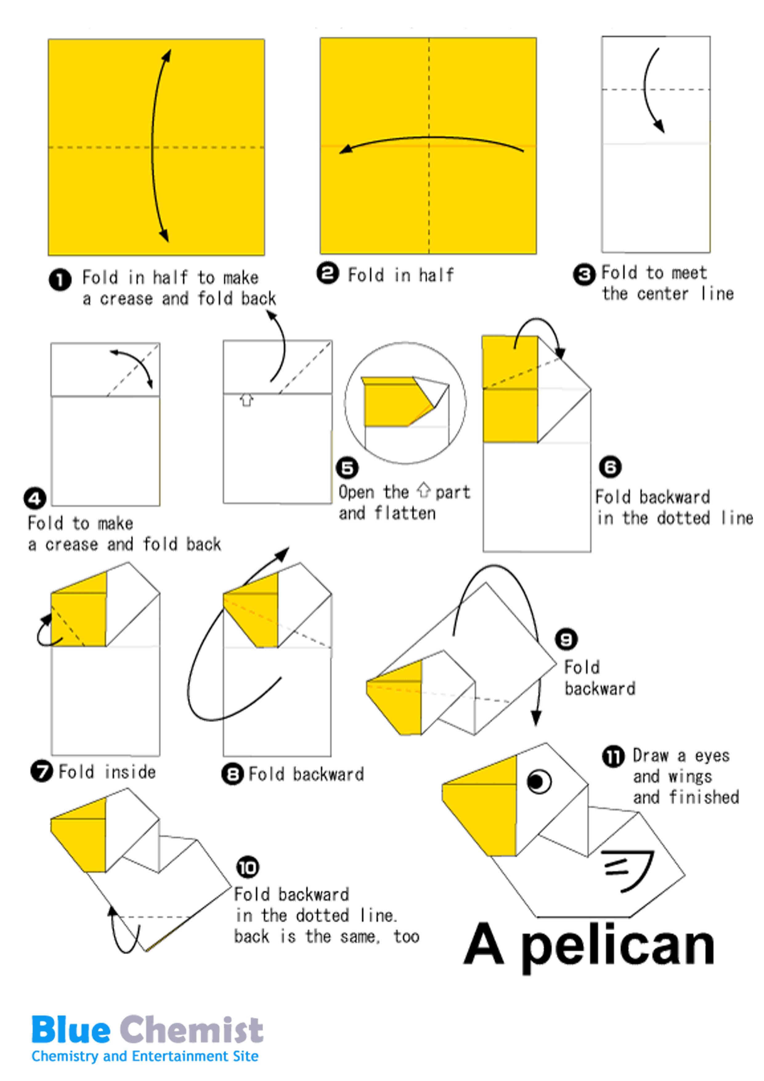 Как сделать оригами из бумаги птицы